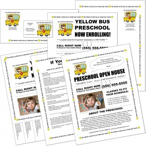 Preschool Marketing Flyers